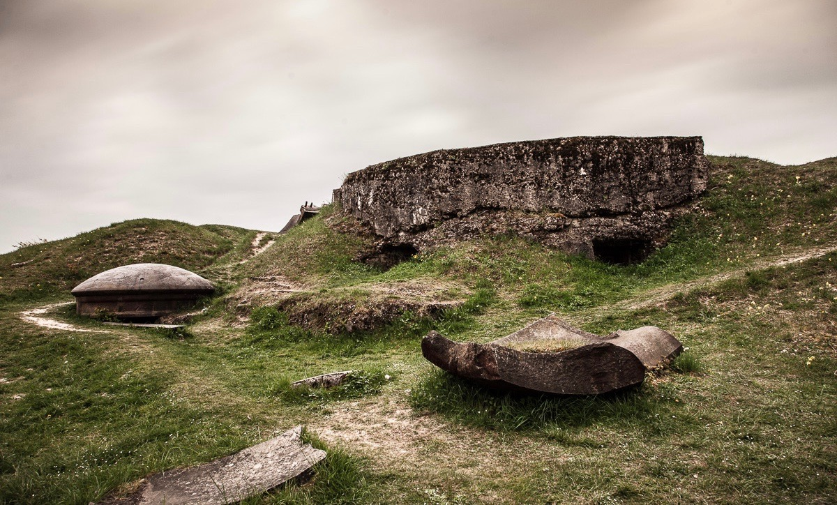 Das französische Fort Vaux bei Verdun