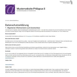 Dynamische Datenschutzerklärung