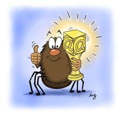 Spinny mit Pokal