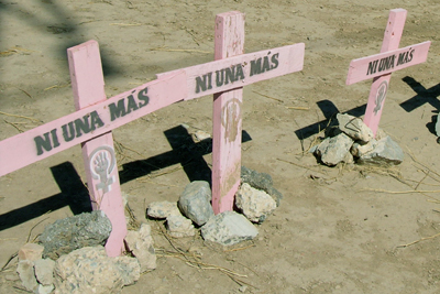 Protestaktion gegen Feminizid in Honduras