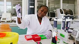 Scientist working in a laboratory