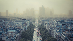 City in the smog
