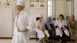 Medical staff in Tajik hospital