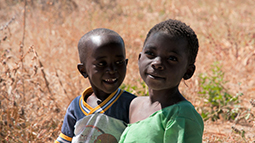 Two children in Tanzania