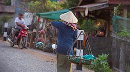 Urban scenery in Laos