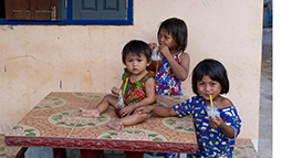 Young children in Laos