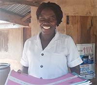 Health worker in Côte d'Ivoire