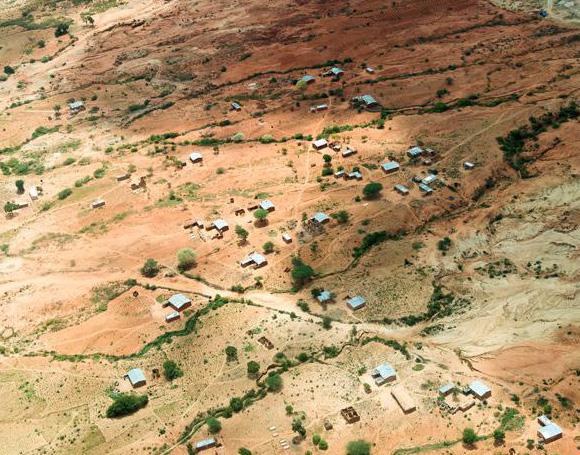 Remote settlement in Tanzania