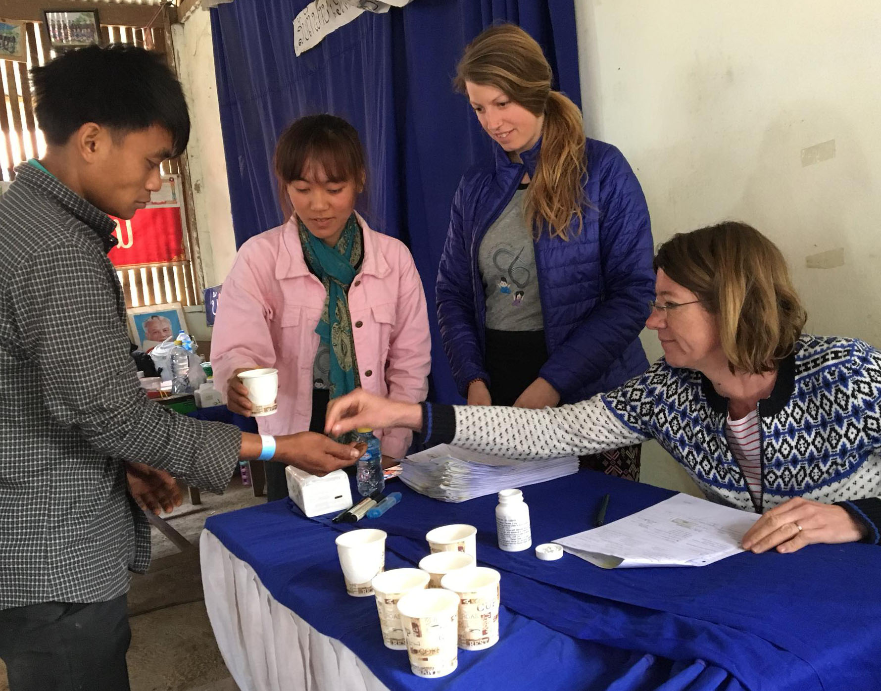 Jennifer Keiser and team in Laos
