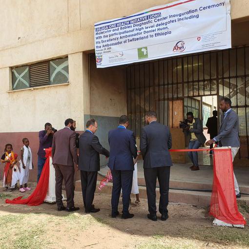Lab opening ceremony at Jijiga University