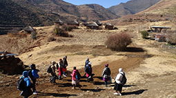 Researchers conduct community outreach in remote areas in Lesotho