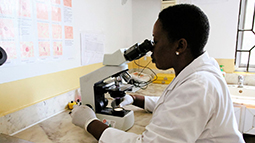 Diagnostic lab in Tanzania