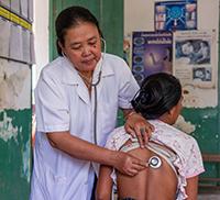Health check in Laos