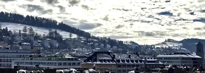 Aussicht über St.Gallen nach Süden