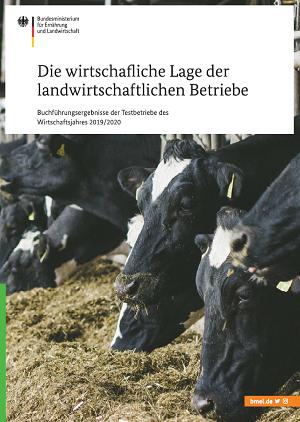 Broschürentitel Die wirtschaftliche Lage der landwirtschaftlichen Betriebe.