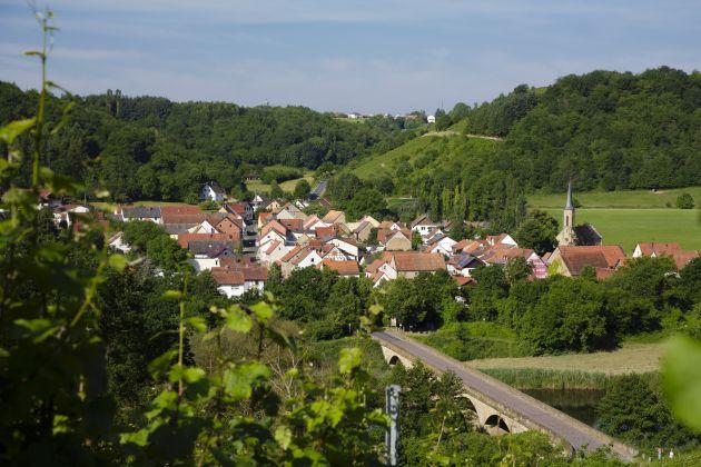 Blick auf Oberhausen an der Nahe von oben, Quelle: BMEL / Thomas Trutschel / photothek.net