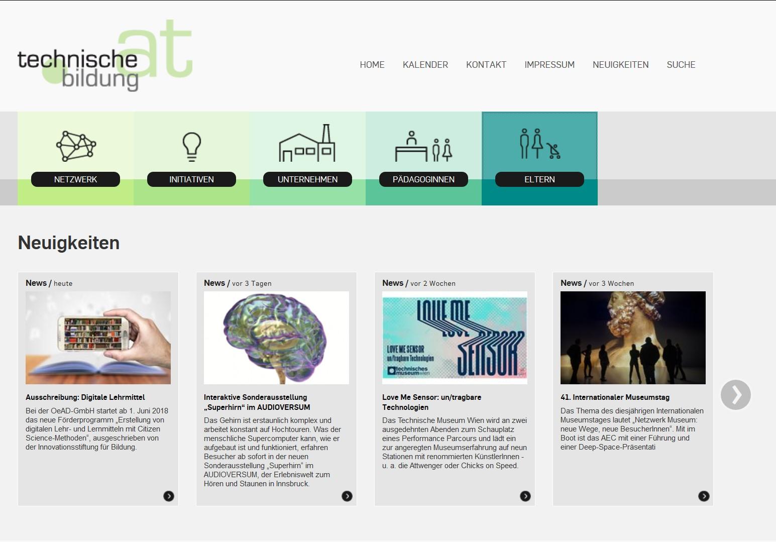 Screenshot Technische Bildung
