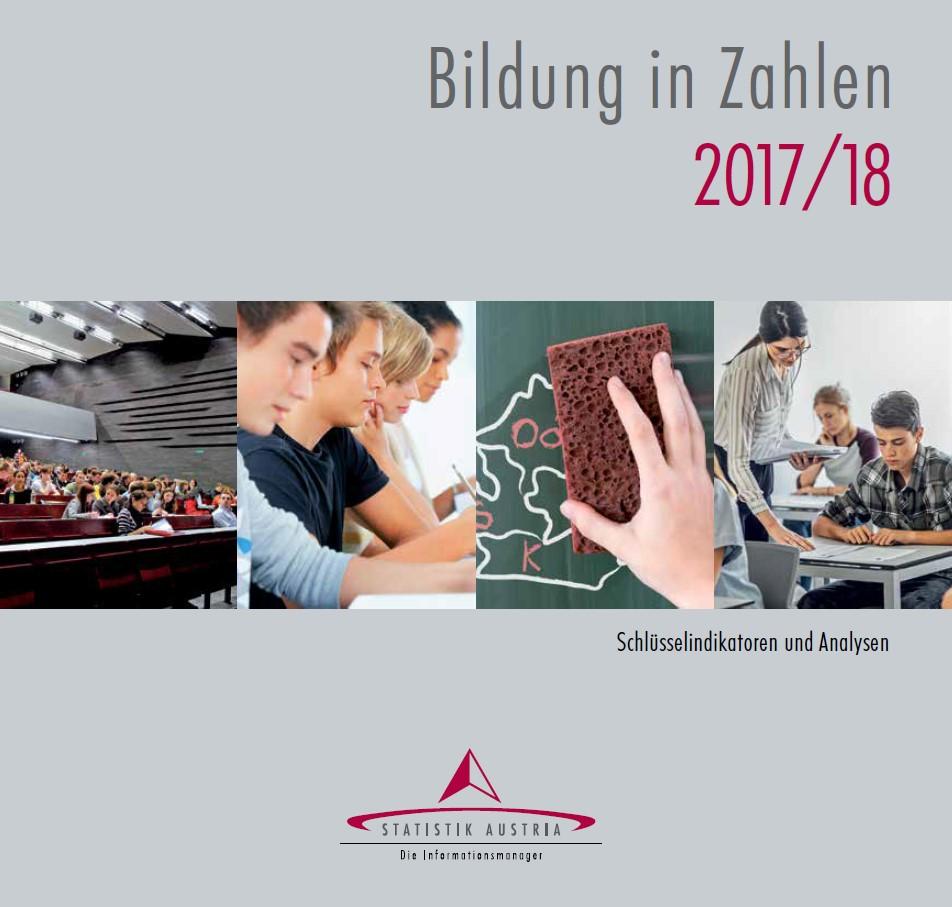cover Bildungs inZahlen 2017/2018