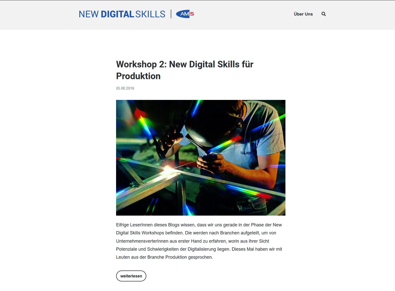 Screen Blog AMS New digital skills