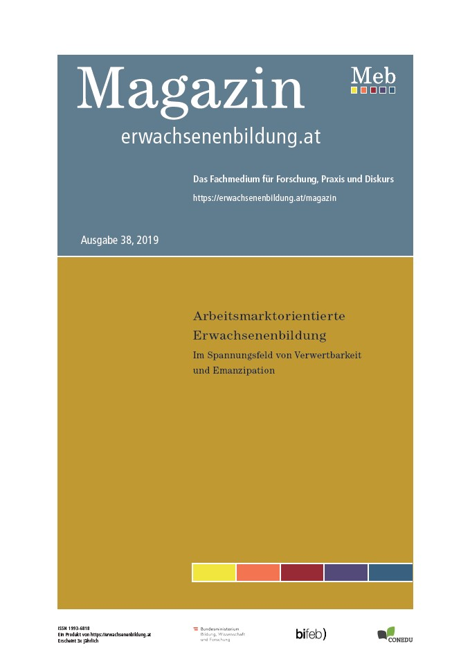 Cover Magazin Erwachsenenbildung