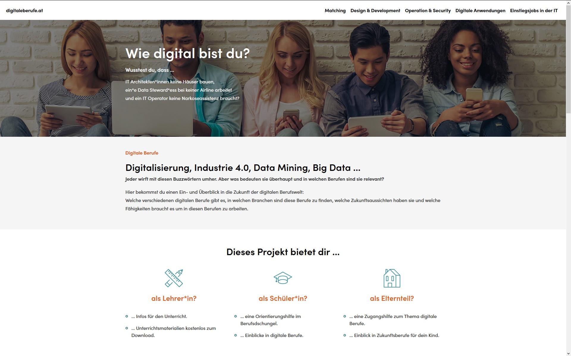 screenshot digitaleberufe