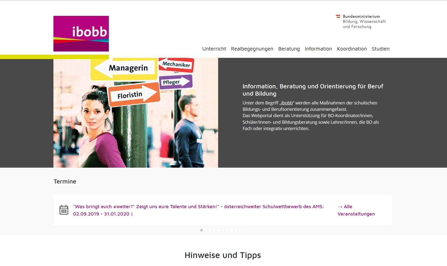 screenshot Ibobb portal