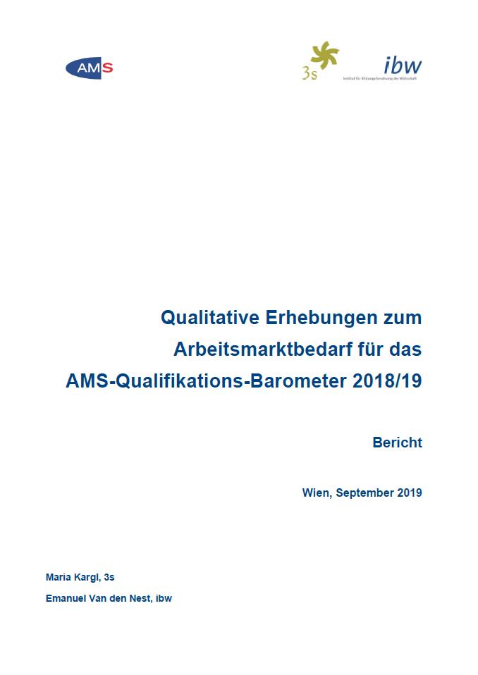 Cover QB Interviews zum Bedarf von Berufen und Kompetenzen