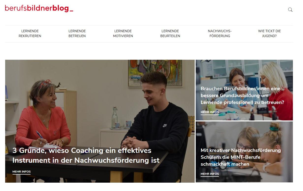 Screenshot Berufsbildnerblog