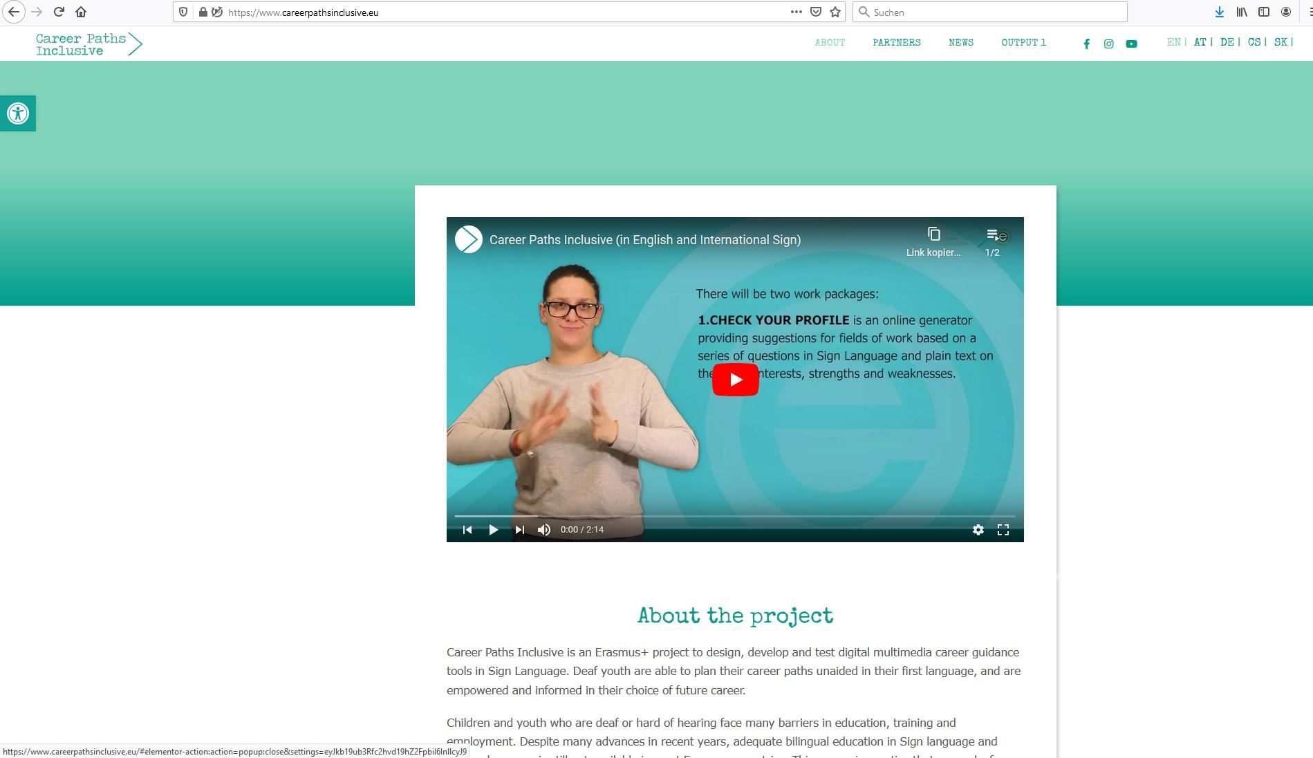 Screenshot Career Paths Inclusive